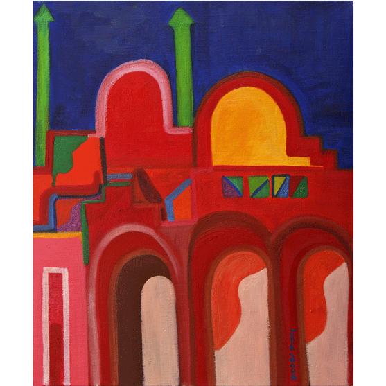 VELO DE LA MEDINA Óleo sobre lienzo 55 X 46 cm