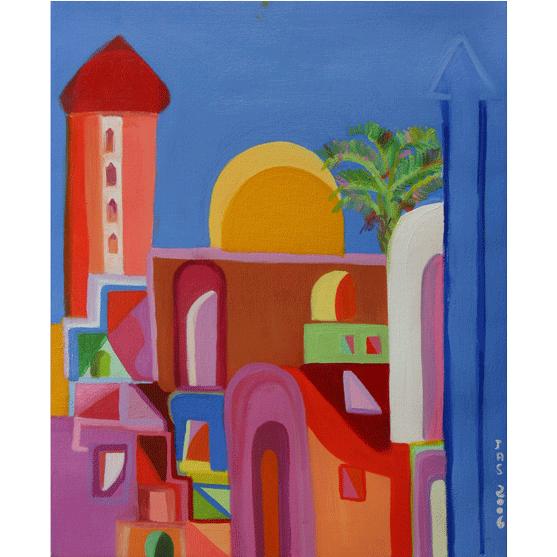 LA MEZQUITA AZUL Óleo sobre lienzo 65 X 50 cm