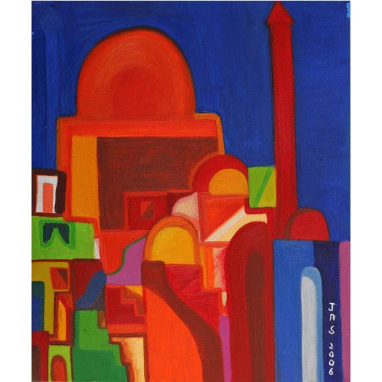 PUERTA DE LA MEZQUITA Óleo sobre lienzo 55 X 46 cm