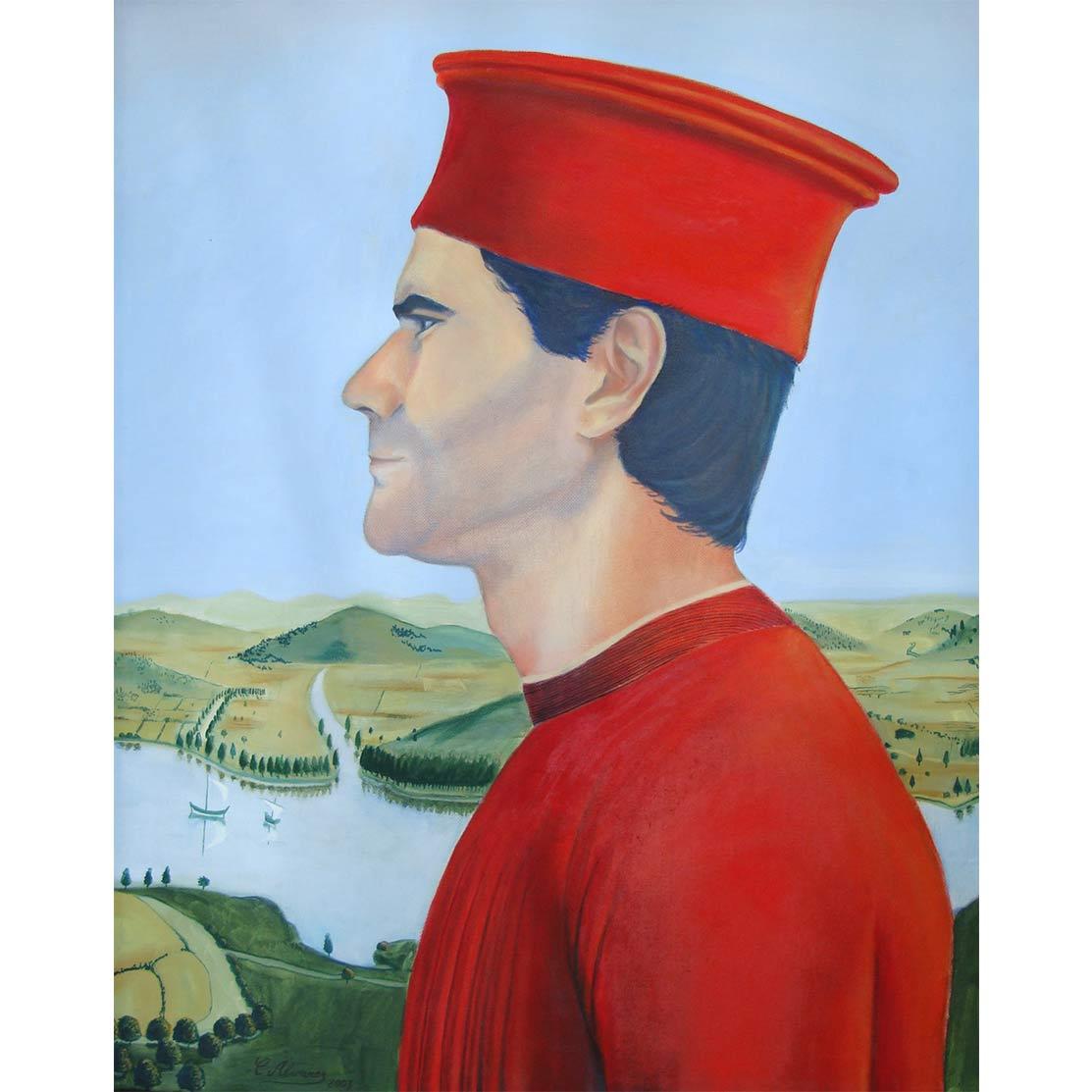 ÓSCAR COMO FEDERICO DE MONTEFELTRO Óleo sobre lienzo 61 x 50 cm