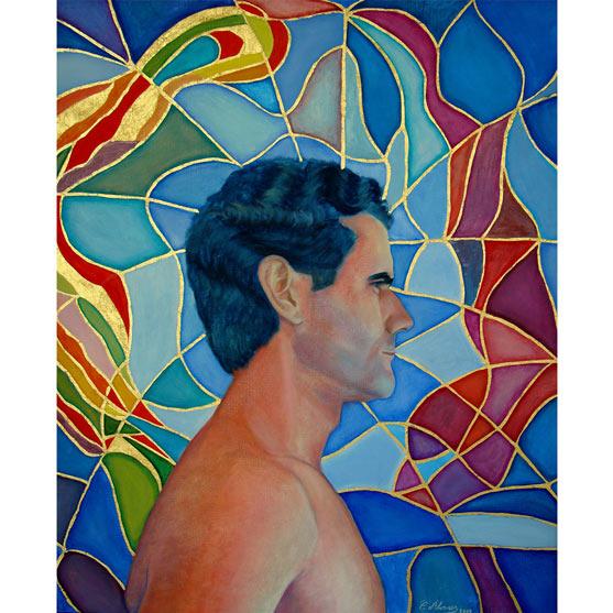 ÓSCAR CON VIDIRERA Óleo sobre lienzo 63 x 59 cm