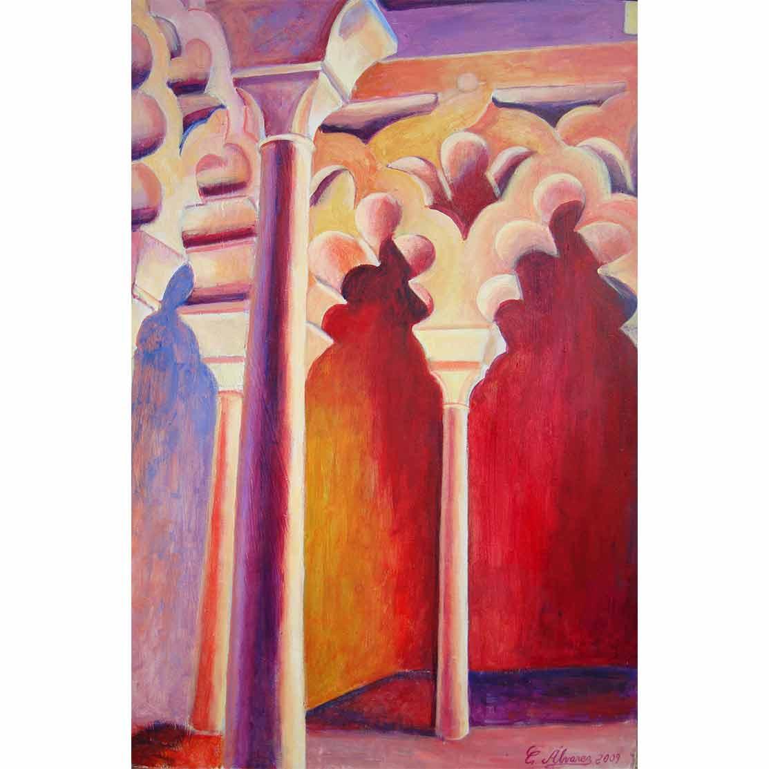 ARCOS POLILOBULADOS Acrílico sobre tabla 60 x 40 cm
