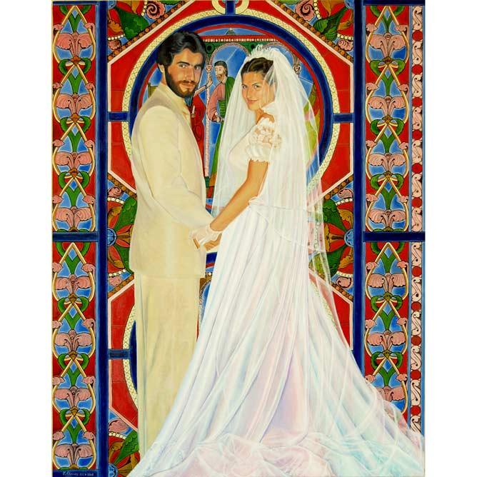 BODA EN CASTILLA Óleo sobre lienzo 130 x 97 cm