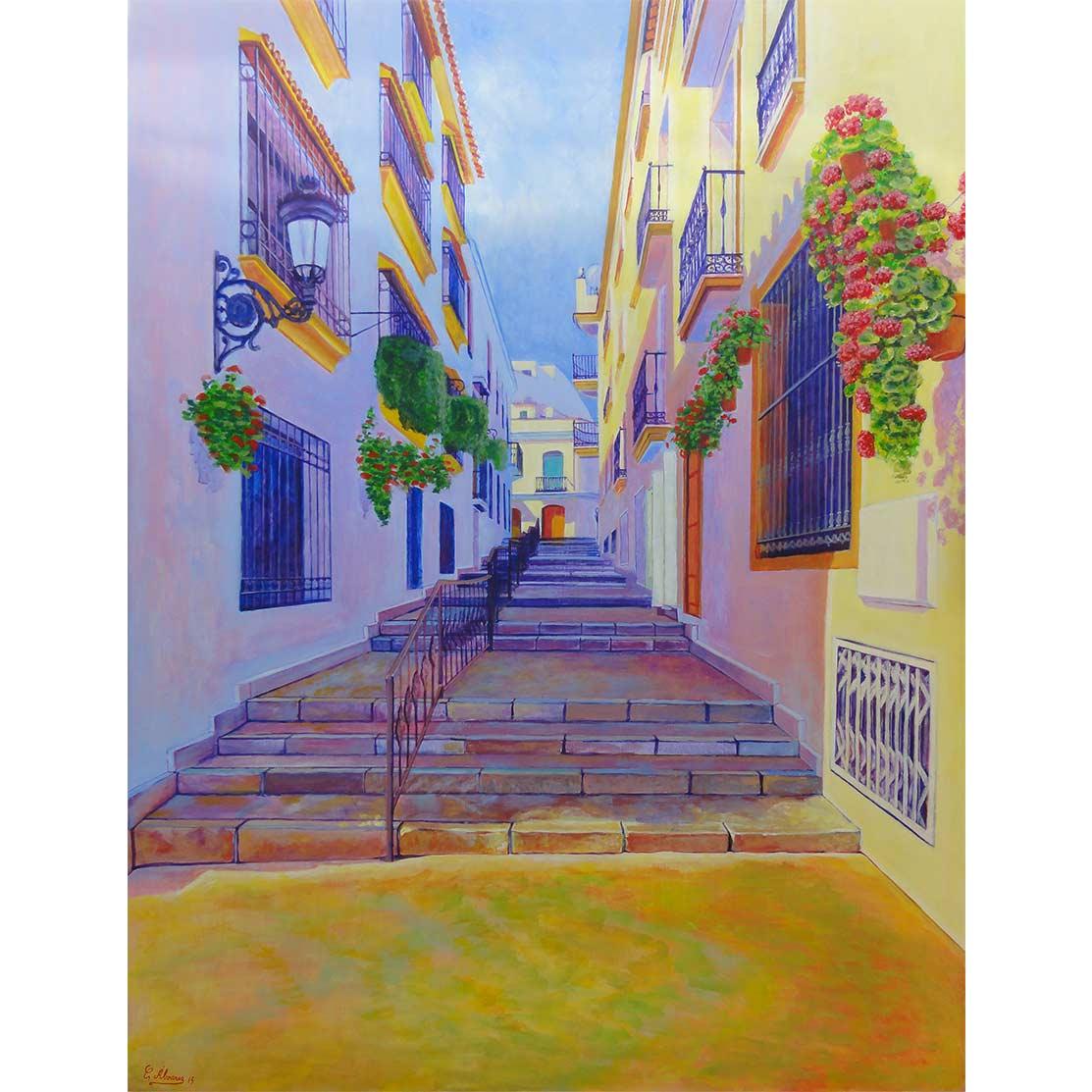 CALLE CARLOS HERRERA Acrílico sobre tabla 130 x 100 cm
