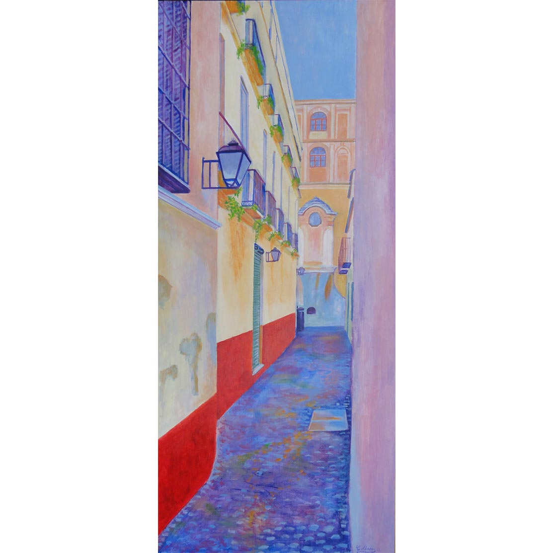 CALLE MARQUESA DE MOYA Acrílico sobre tabla 122 x 51 cm