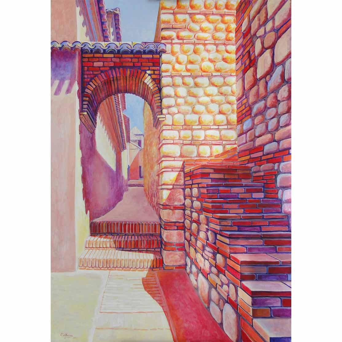 DOS CAMINOS Acrílico sobre tabla 138 x 95 cm