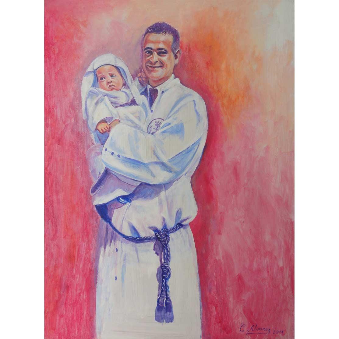 THE YOUNGEST BROTHERHOOD Acrylic on panel 70 x 50 cm