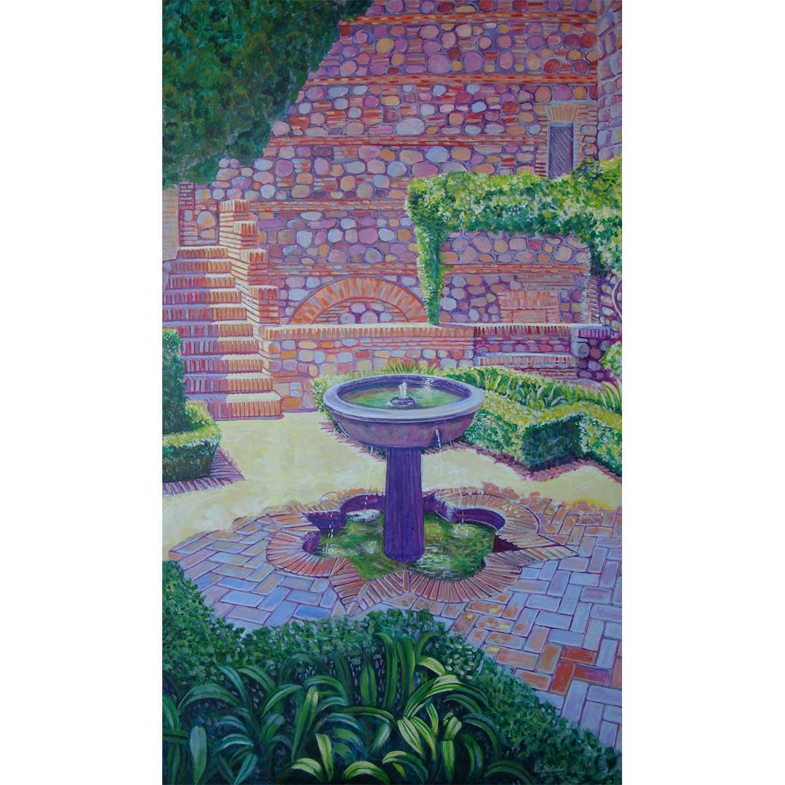 FOUNTAIN´S BABLING Acrylic on panel 139 x 80 cm