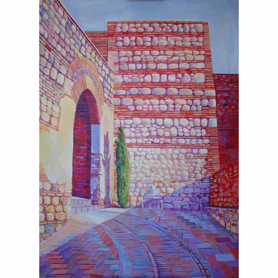 EL PEQUEÑO CIPRÉS Acrílico sobre tabla 140 x 98 cm