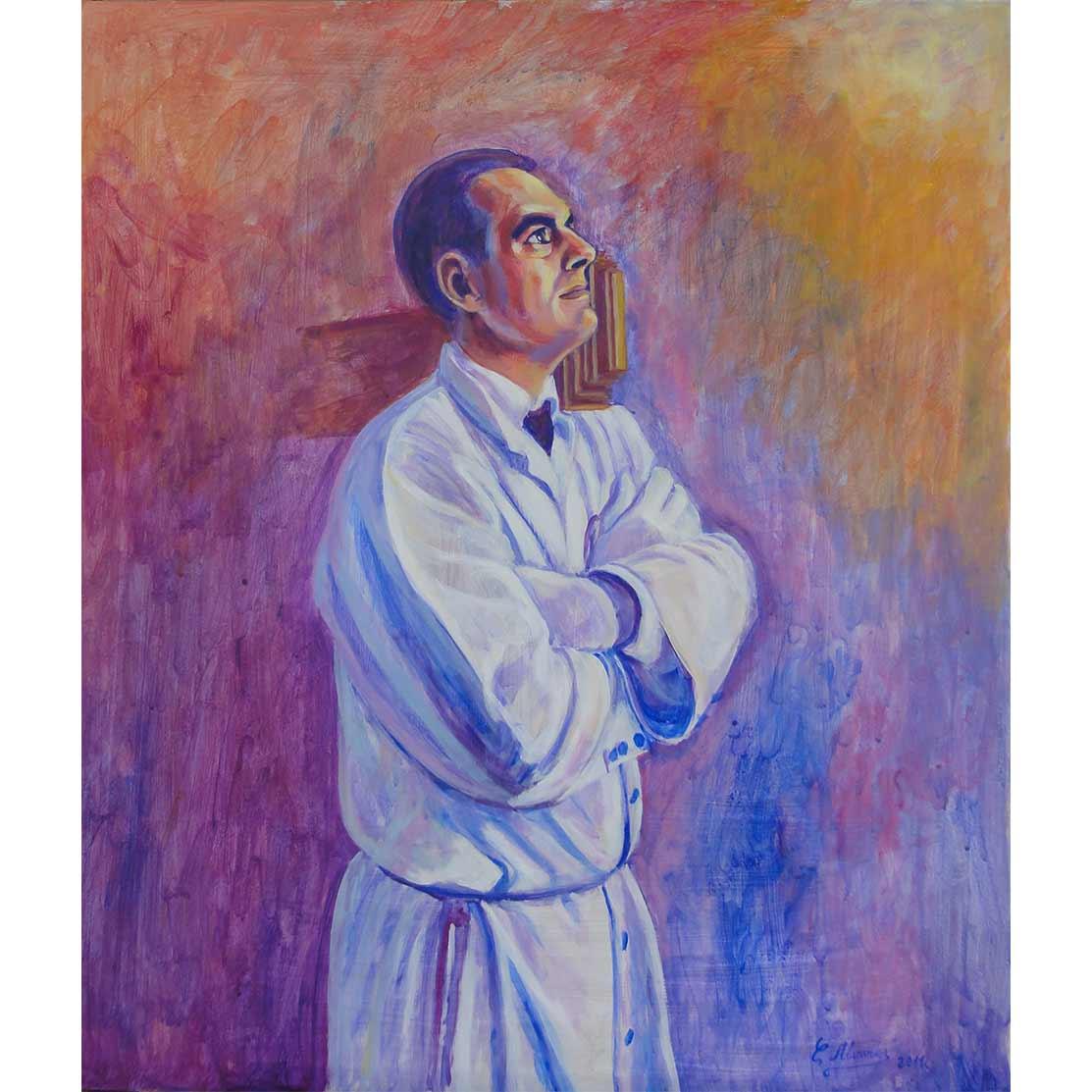 THRONE CARRIER Acrylic on panel 70 x 60 cm
