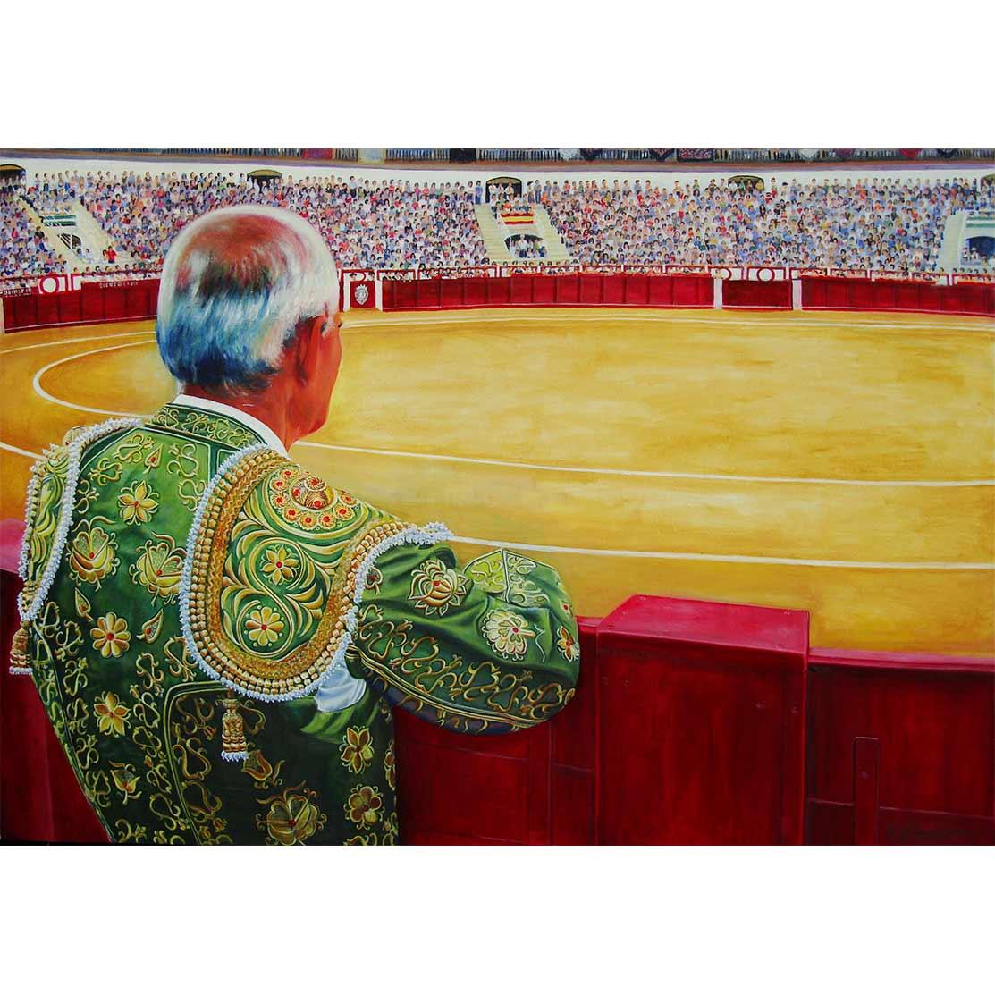 EL VIEJO PICADOR Óleo sobre lienzo 69 x 99 cm