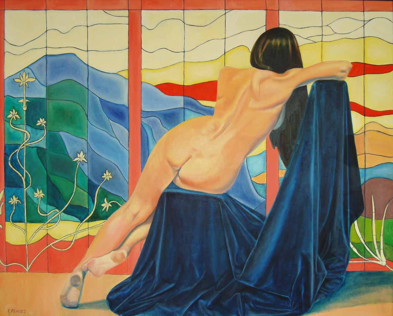 ESPERÁNDOLE I Óleo sobre lienzo 130 x 162 cm