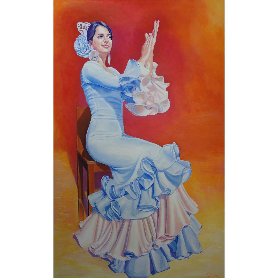 FLOR AZUL Óleo sobre lienzo 160 x 100 cm