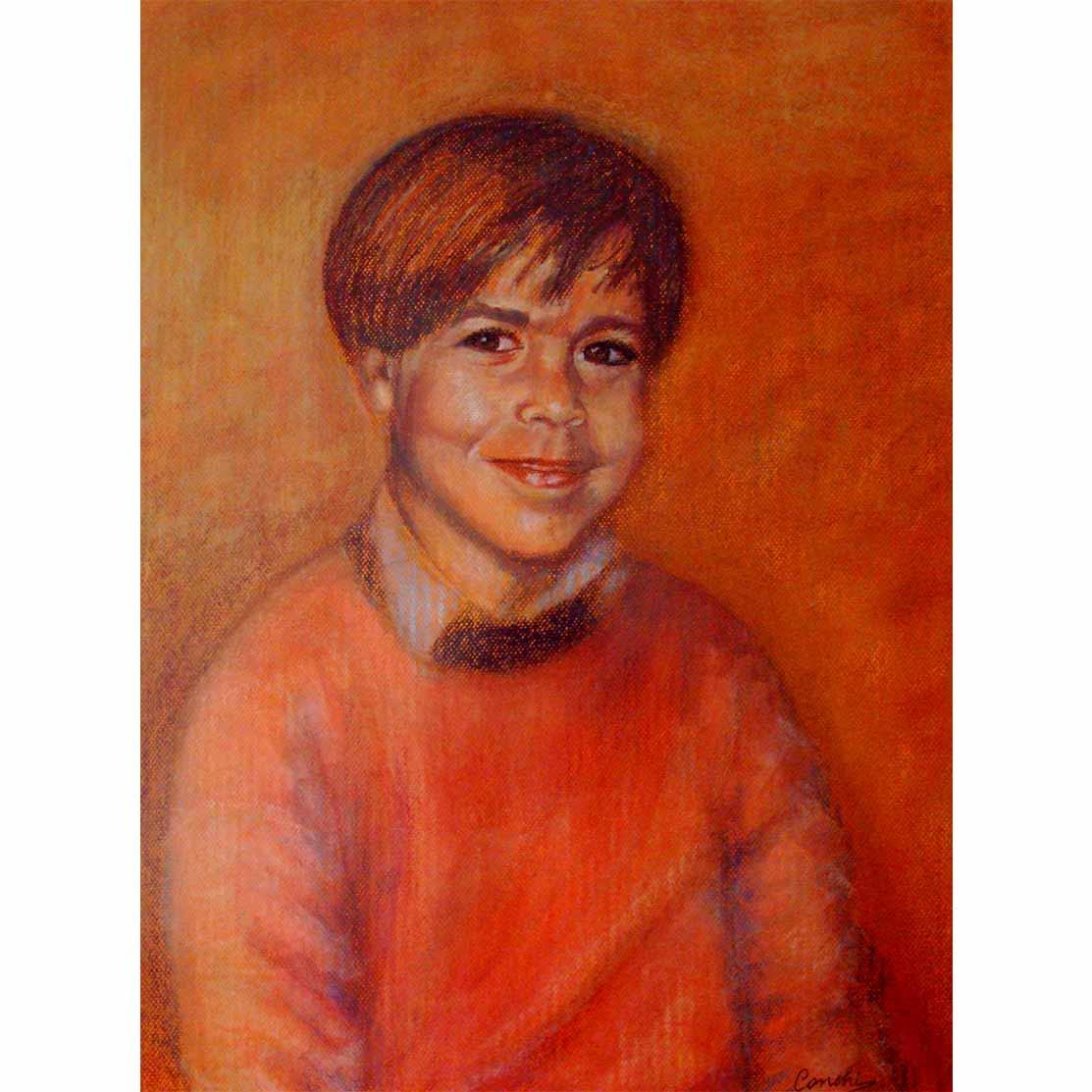 HÉCTOR 7 AÑOS Pastel sobre papel 63 x 48 cm