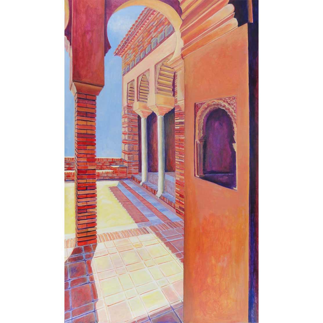 HABITACIÓN CON VISTAS Acrílico sobre tabla 138 x 95 cm