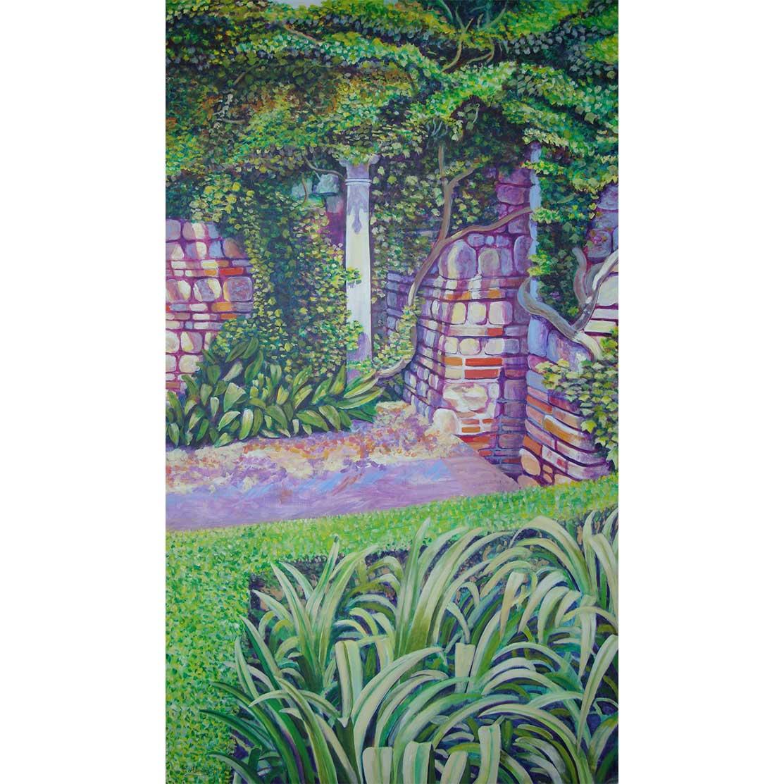 THE MYSTERIOUS COLUMN Acrylic on panel 139 x 80 cm