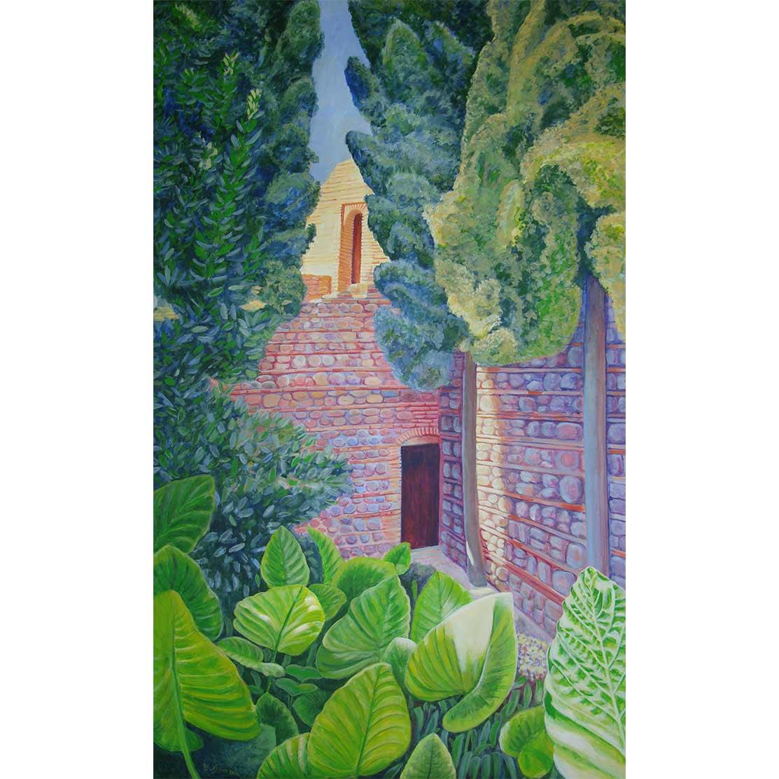 THE HIDDEN DOOR Acrylic on panel 179 x 104 cm