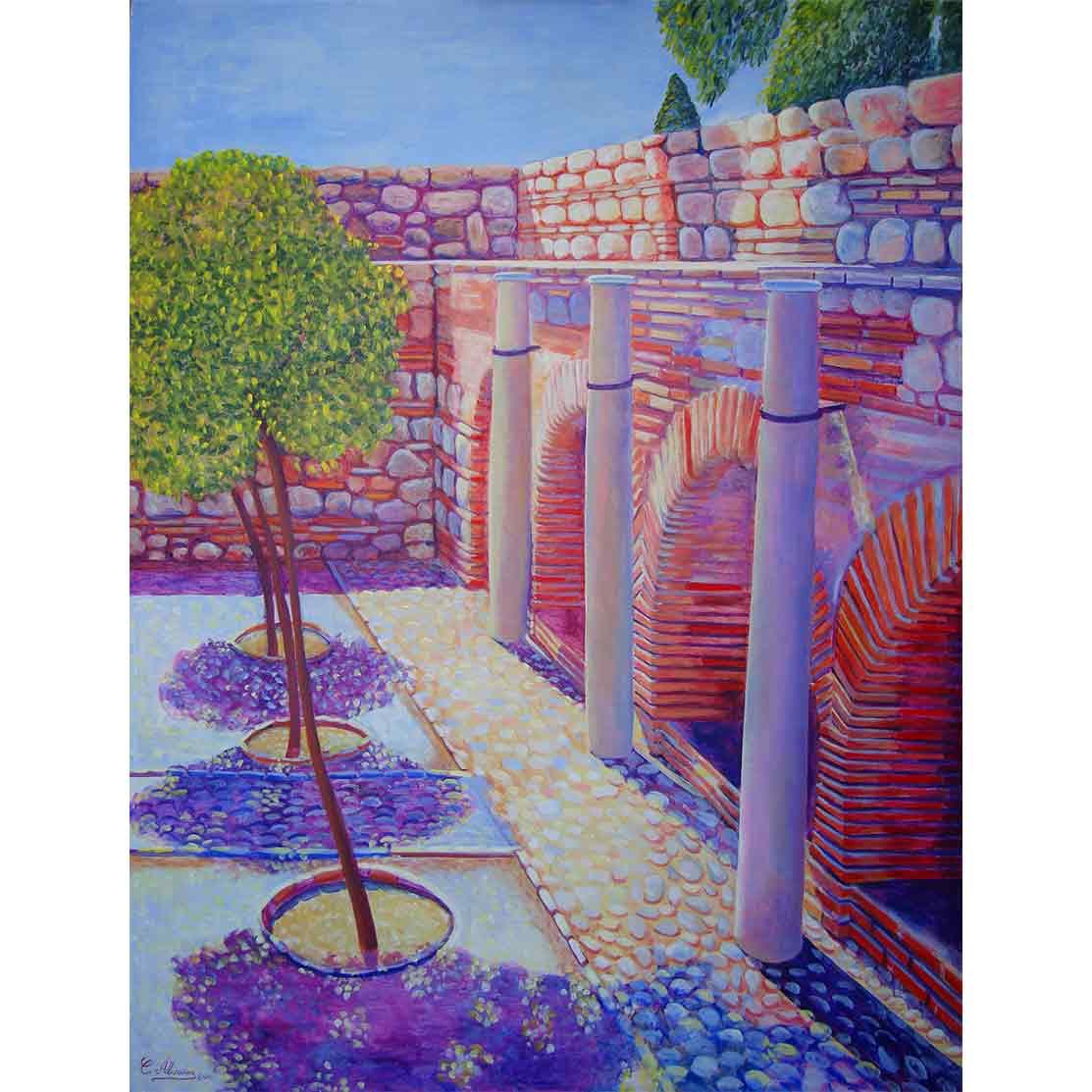 LAS TRES CAUTIVAS Acrílico sobre tabla 121 x 92 cm