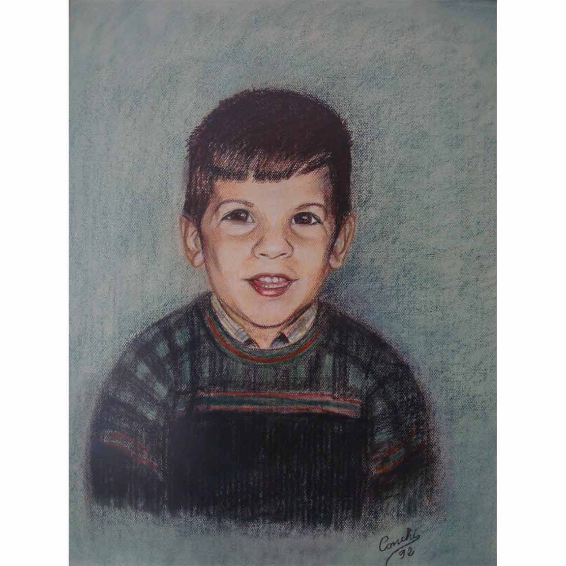 PABLO JR. Pastel sobre papel 63 x 48 cm
