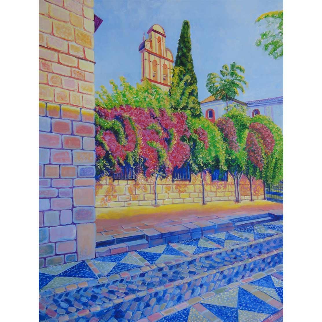 SAN AGUSTÍN DESDE EL PICASSO Acrílico sobre tabla 100 x 75 cm