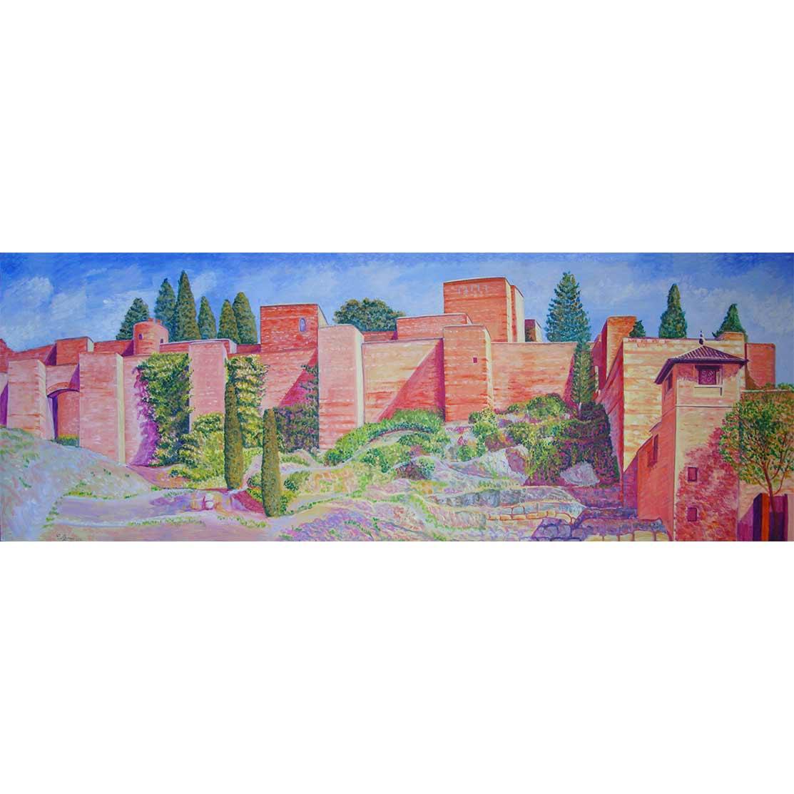 TRAS LA LLUVIA DE ABRIL Acrílico sobre tabla 195 x 70 cm