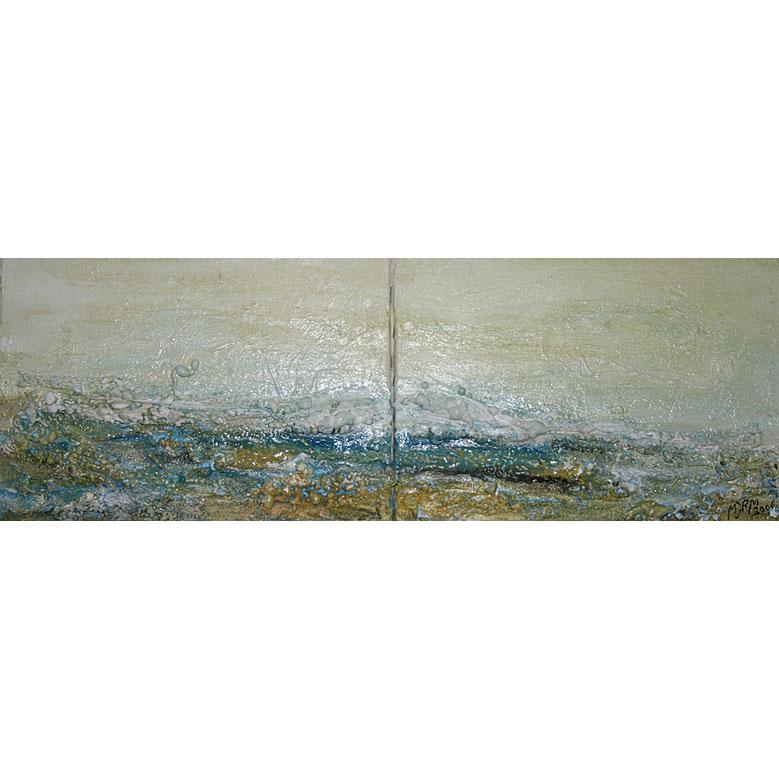 OCASO Ténica mixta sobre lienzo 19 x 54 cm